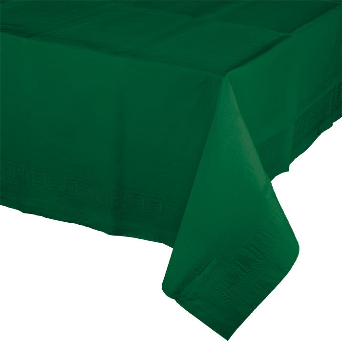 "Hunter Green Tablecover 54""X 108"" Polylined Tissue by Creative Converting"