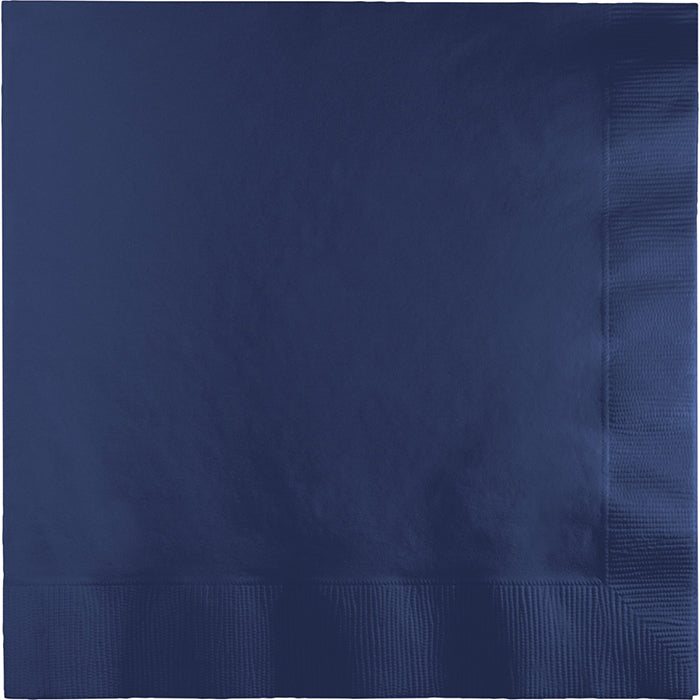 Navy Dinner Napkins 3Ply 1/4Fld, 25 ct by Creative Converting