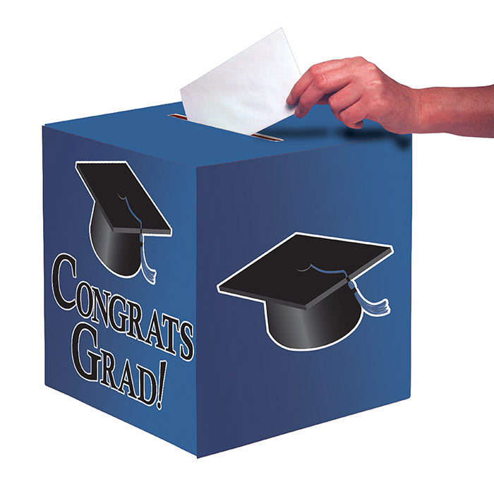 Blue Graduation Card Box by Creative Converting