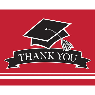Graduation School Spirit Red Thank You Notes, 25 ct by Creative Converting