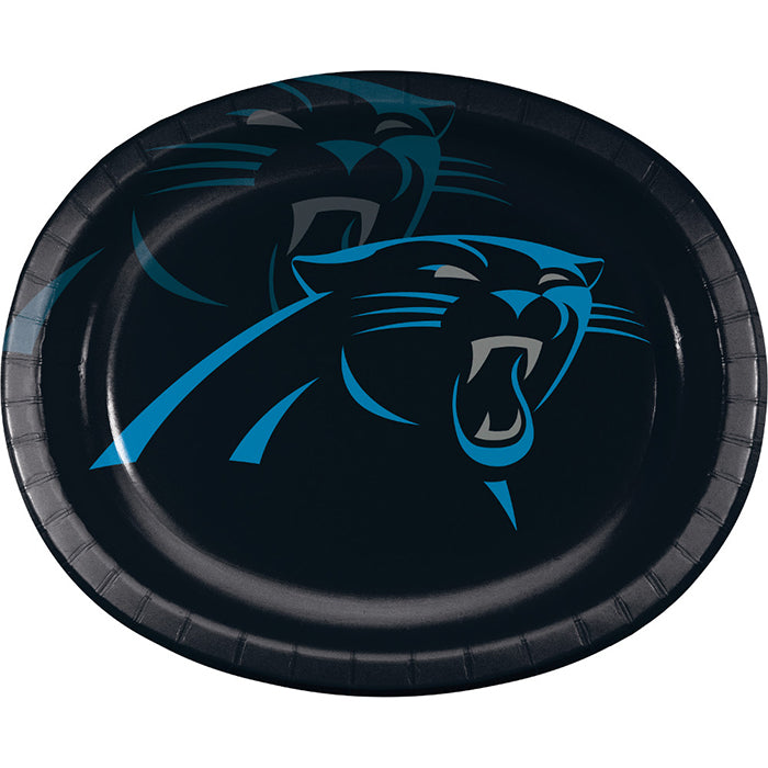 "Carolina Panthers Oval Platter 10"" X 12"", 8 ct by Creative Converting"