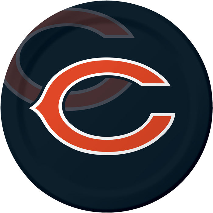 Chicago Bears Paper Plates, 8 ct by Creative Converting