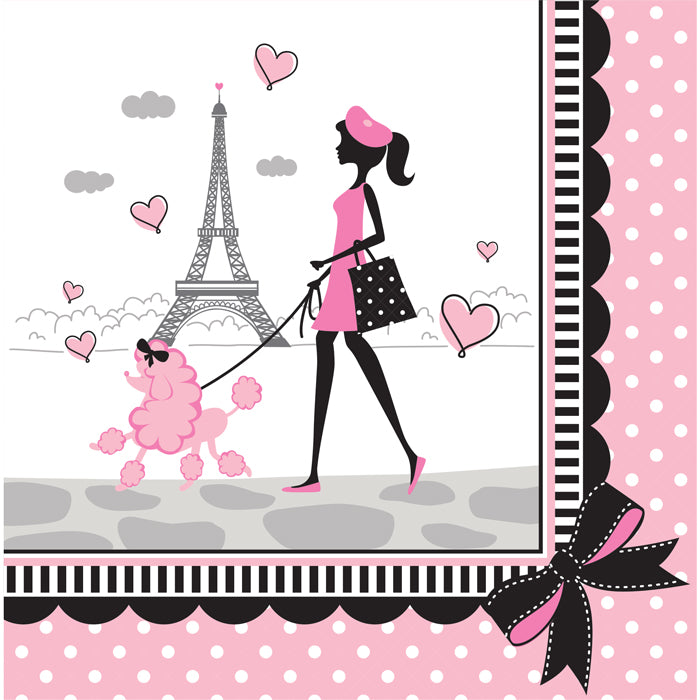 Party In Paris Napkins, 18 ct by Creative Converting