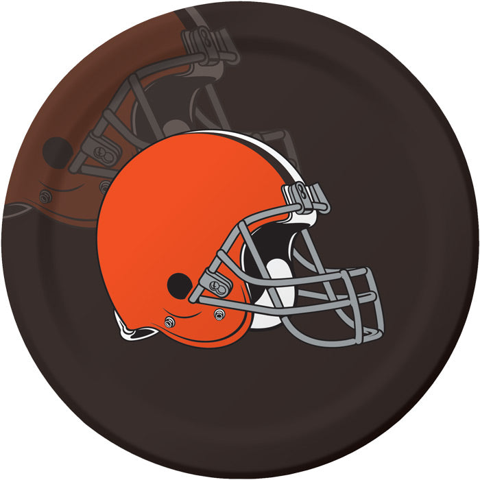 Cleveland Browns Paper Plates, 8 ct by Creative Converting