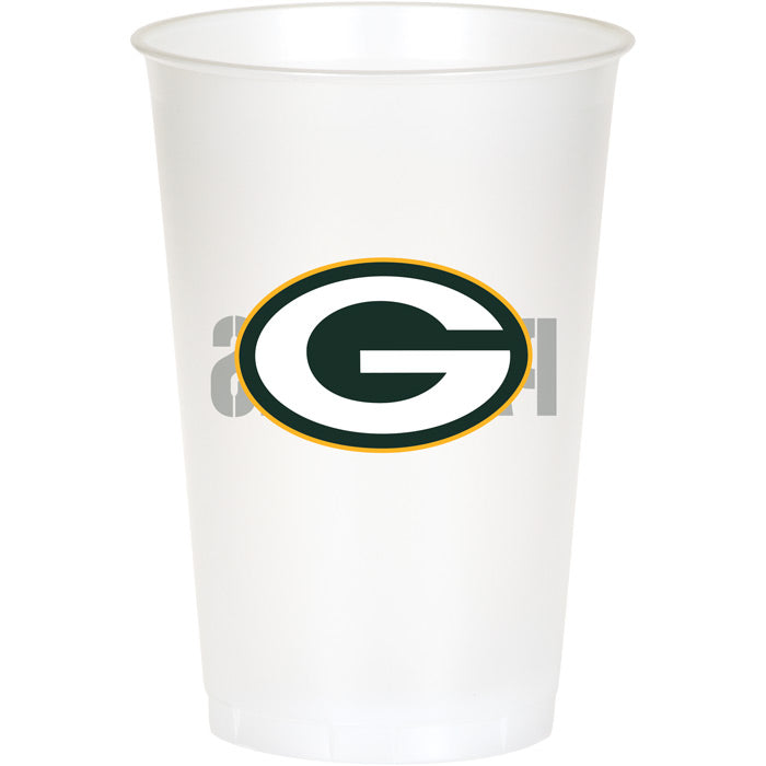 Green Bay Packers Plastic Cup, 20Oz, 8 ct by Creative Converting