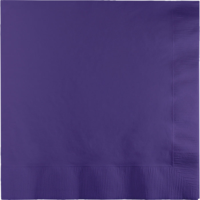 Purple Dinner Napkins 3Ply 1/4Fld, 25 ct by Creative Converting