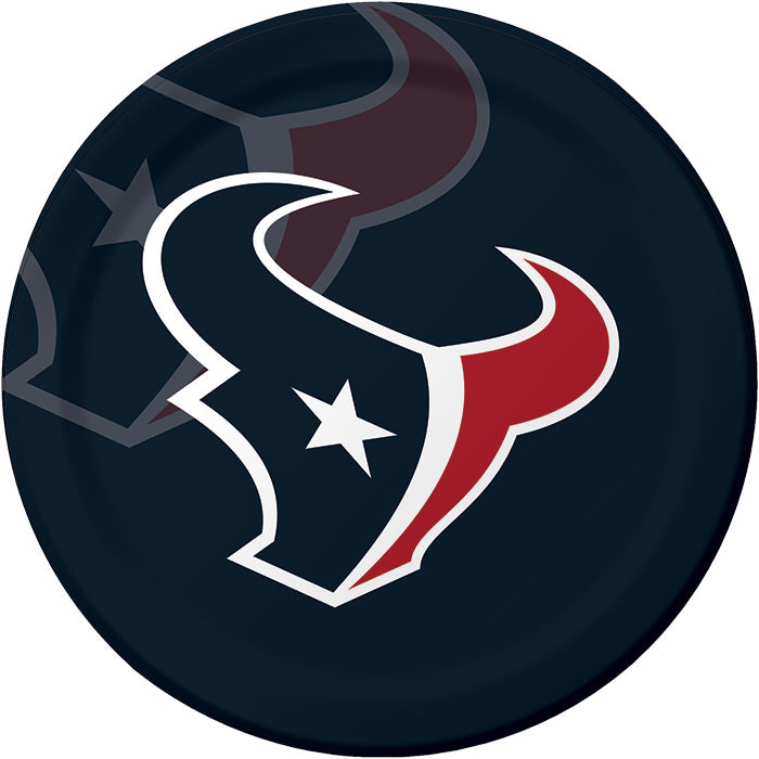 Houston Texans Paper Plates, 8 ct by Creative Converting