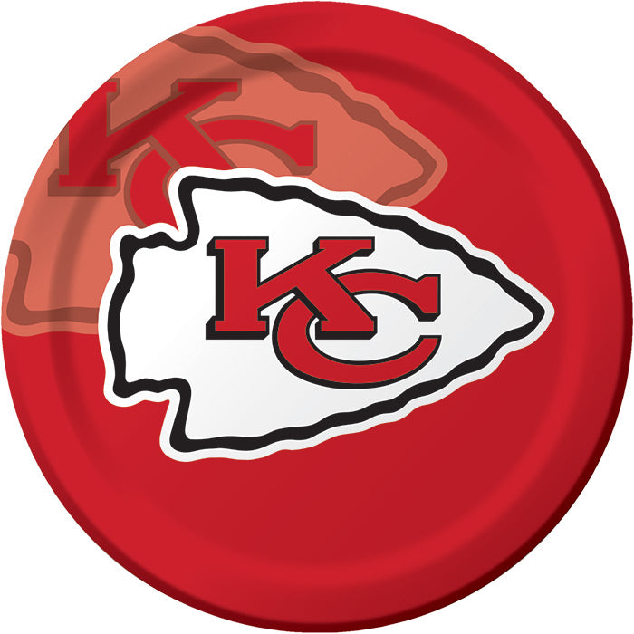Kansas City Chiefs Paper Plates, 8 ct by Creative Converting