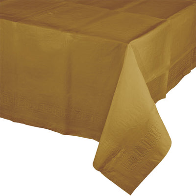 "Glittering Gold Tablecover 54""X 108"" Polylined Tissue by Creative Converting"