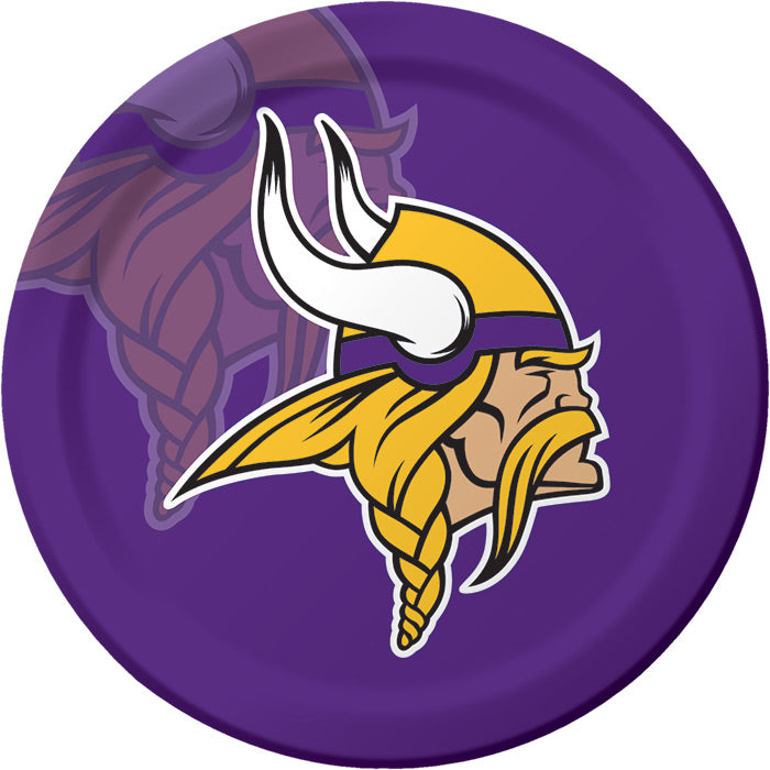 Minnesota Vikings Paper Plates, 8 ct by Creative Converting