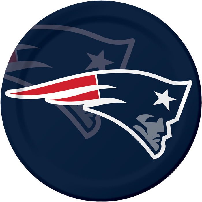 New England Patriots Paper Plates, 8 ct by Creative Converting