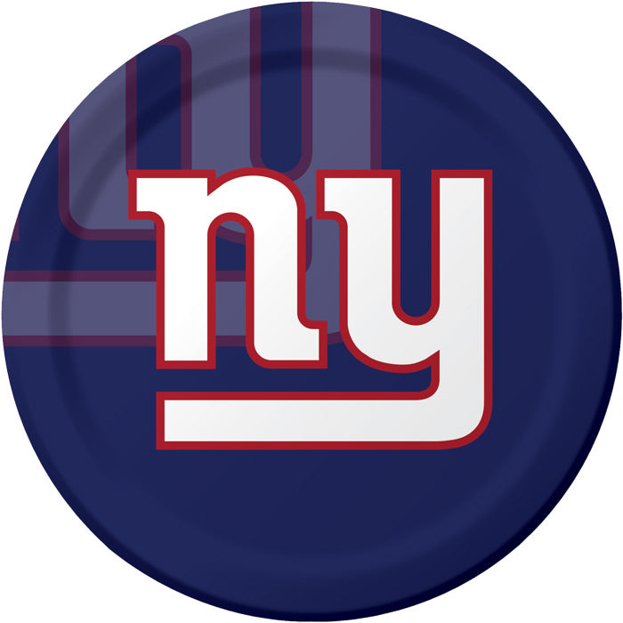 New York Giants Paper Plates, 8 ct by Creative Converting
