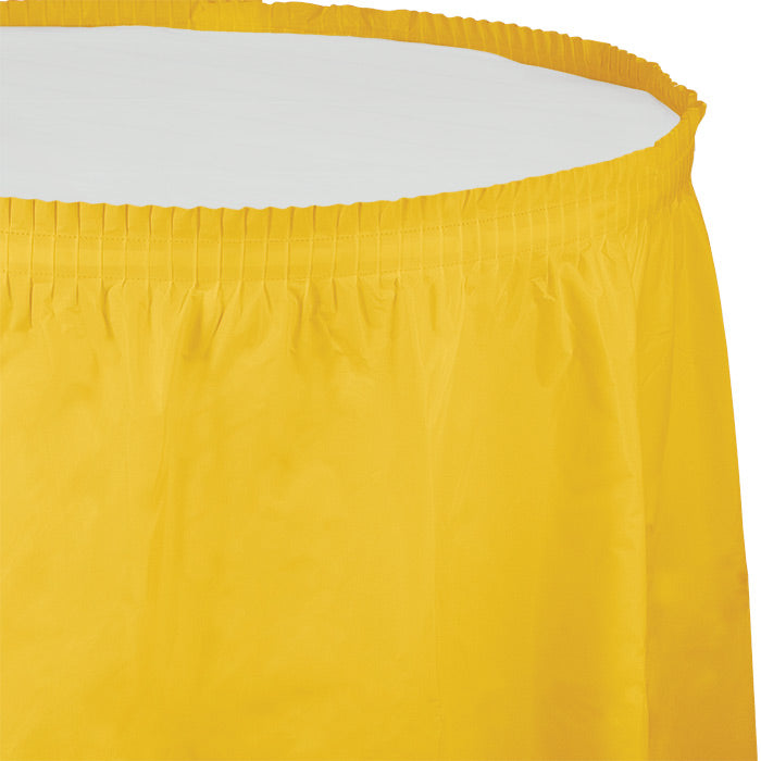 "School Bus Yellow Plastic Tableskirt, 14' X 29"" by Creative Converting"