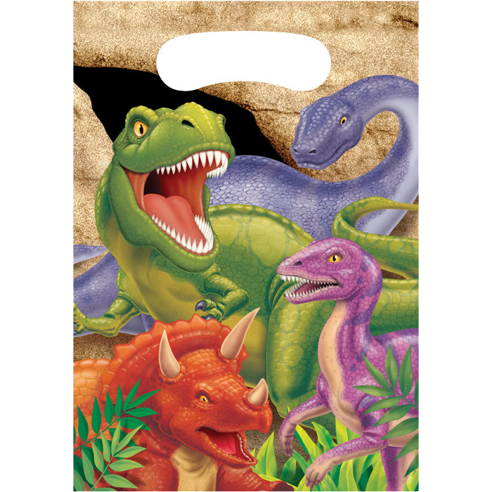 Dinosaur Favor Bags, 8 ct by Creative Converting