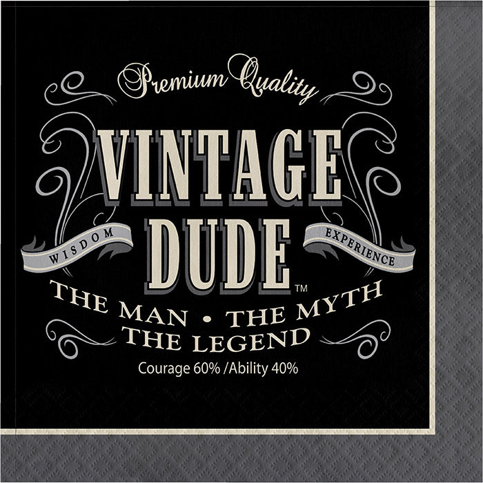 Vintage Dude Napkins, 16 ct by Creative Converting