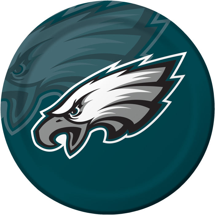 Philadelphia Eagles Paper Plates, 8 ct by Creative Converting