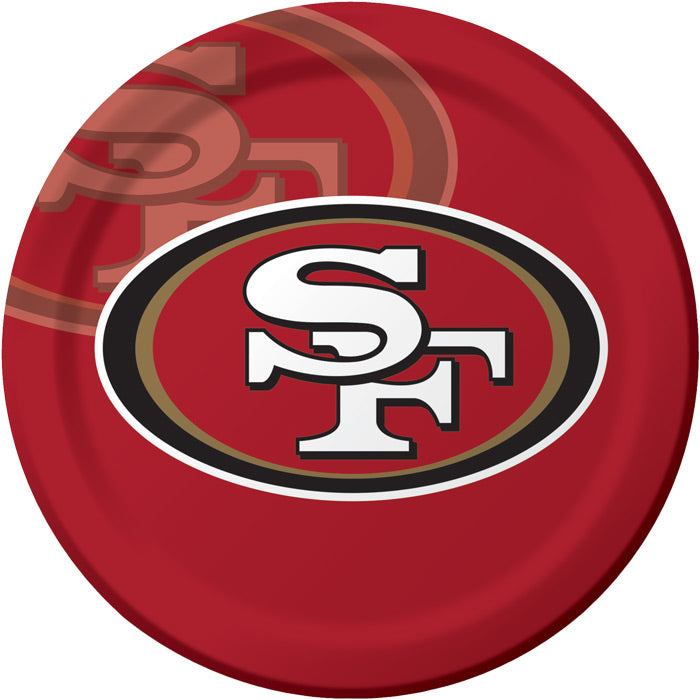 San Francisco 49Ers Paper Plates, 8 ct by Creative Converting