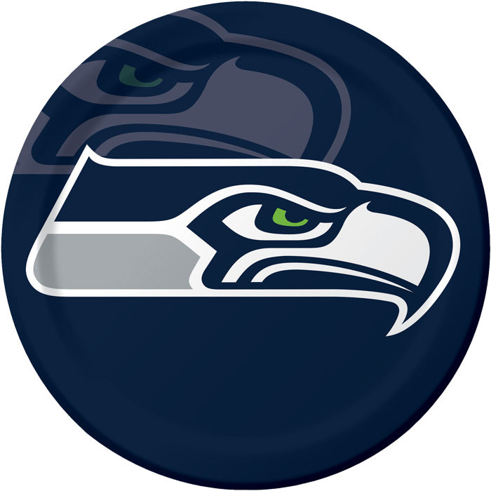 Seattle Seahawks Paper Plates, 8 ct by Creative Converting