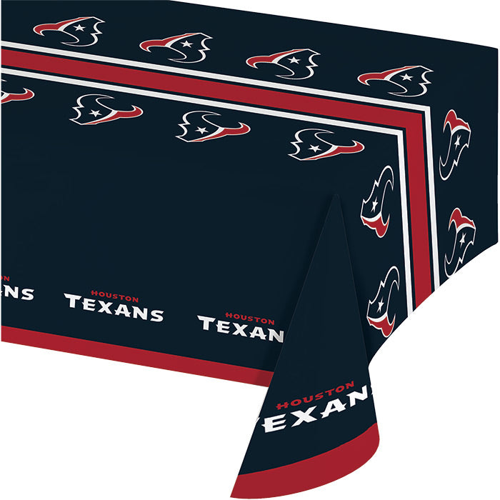 "Houston Texans Plastic Tablecloth, 54"" X 108"" by Creative Converting"