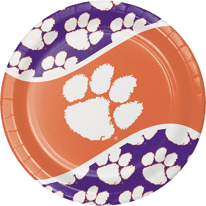 Clemson University Paper Plates, 8 ct by Creative Converting