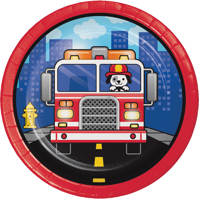 Fire Truck Dessert Plates, 8 ct by Creative Converting