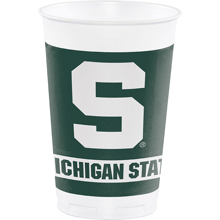 Michigan State University 20 Oz Plastic Cups, 8 ct by Creative Converting