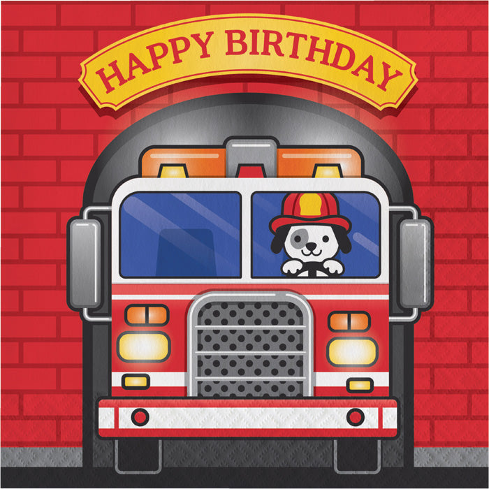 Fire Truck Birthday Napkins, 16 ct by Creative Converting