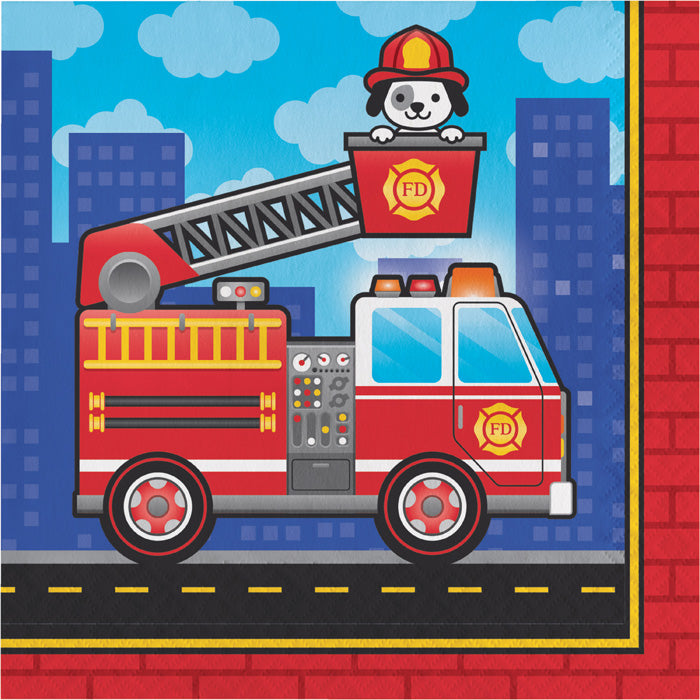 Fire Truck Napkins, 16 ct by Creative Converting