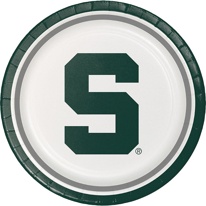 Michigan State University Paper Plates, 8 ct by Creative Converting