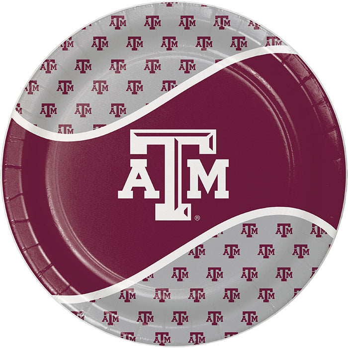 Texas A And M University Paper Plates, 8 ct by Creative Converting