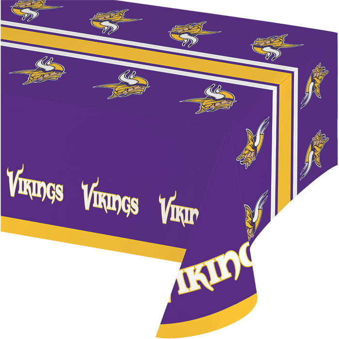 "Minnesota Vikings Plastic Tablecloth, 54"" X 108"" by Creative Converting"