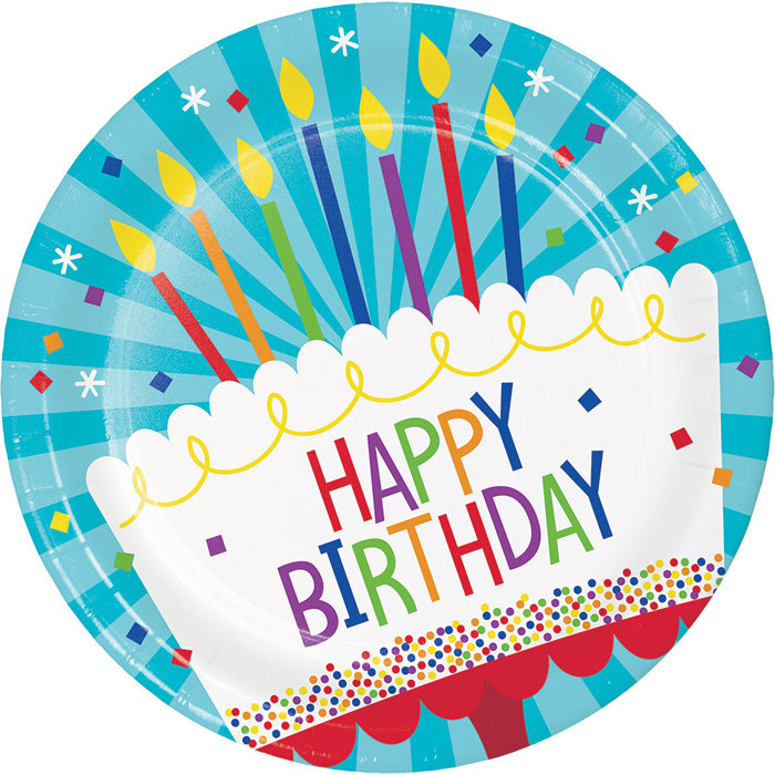 Cake Birthday Paper Plates, 8 ct by Creative Converting