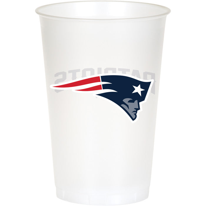 New England Patriots Plastic Cup, 20Oz, 8 ct by Creative Converting