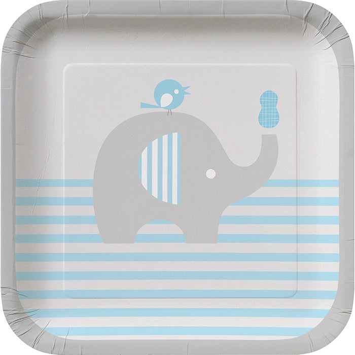 Little Peanut Boy Elephant Dessert Plates, 8 ct by Creative Converting