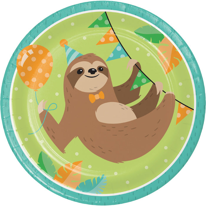 Sloth Party Paper Plates, Pack Of 8 by Creative Converting