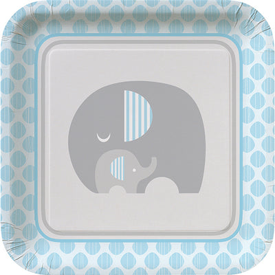 Little Peanut Boy Elephant Paper Plates, 8 ct by Creative Converting