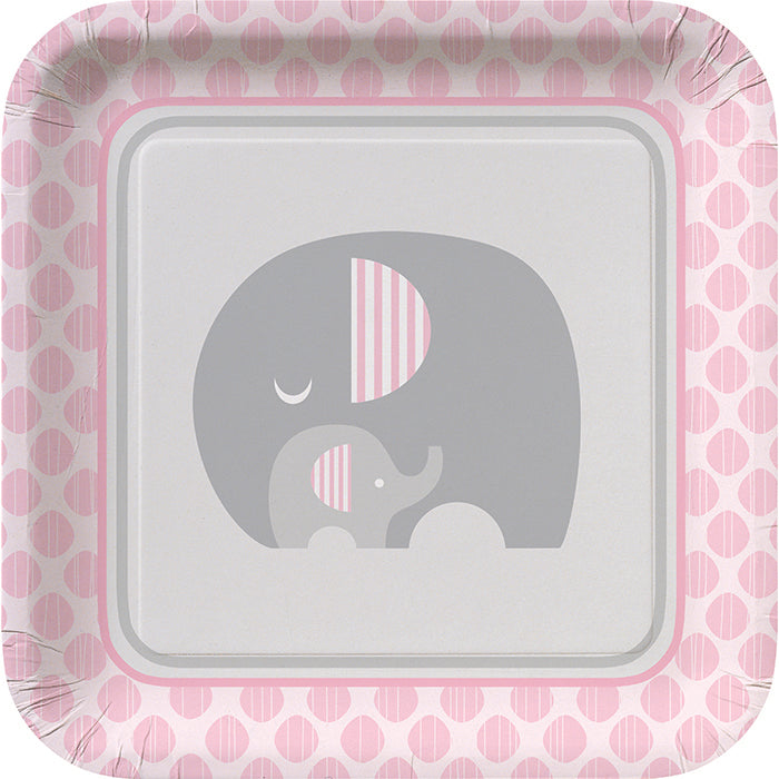 Little Peanut Girl Elephant Paper Plates, 8 ct by Creative Converting