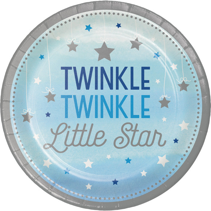 One Little Star Boy Paper Plates, 8 ct by Creative Converting