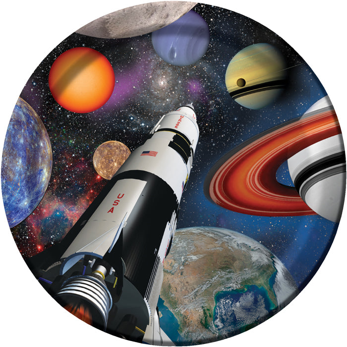 Space Blast Paper Plates, 8 ct by Creative Converting