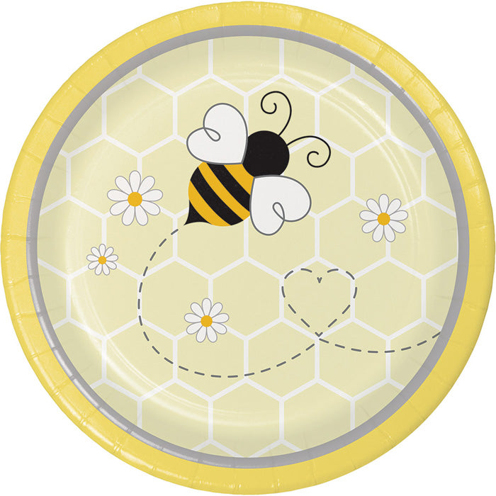 Bumblebee Baby Dessert Plates, 8 ct by Creative Converting