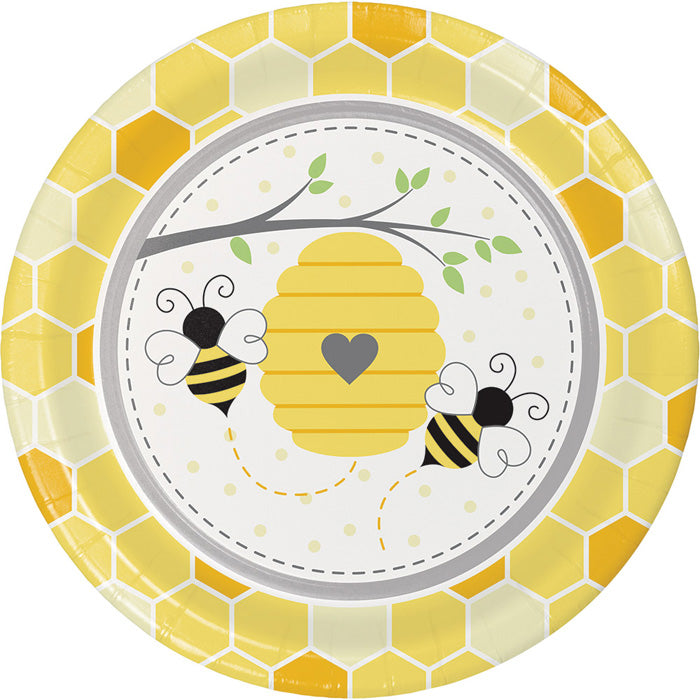 Bumblebee Baby Paper Plates, 8 ct by Creative Converting