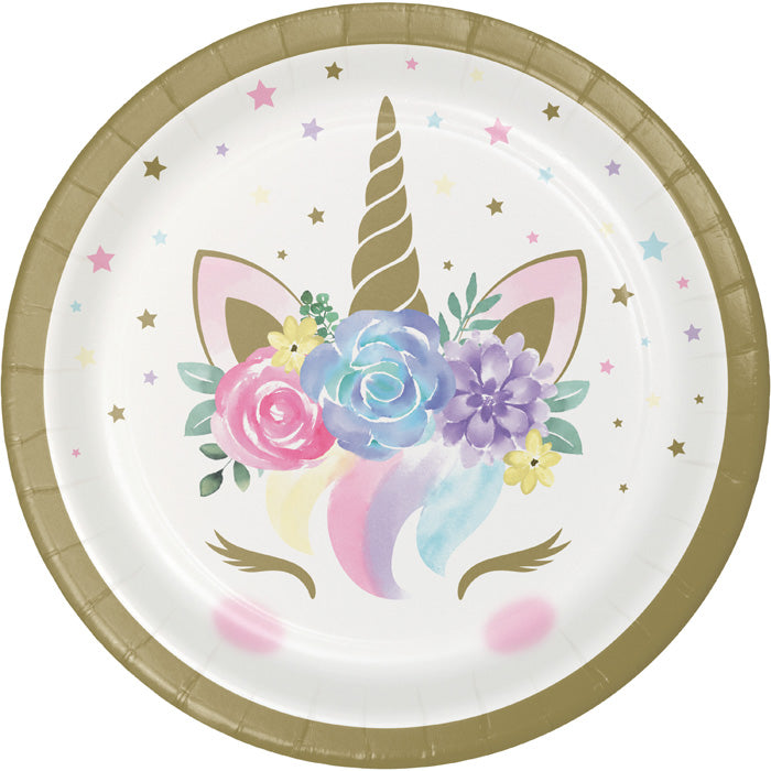 Unicorn Baby Shower Dessert Plates, Pack Of 8 by Creative Converting