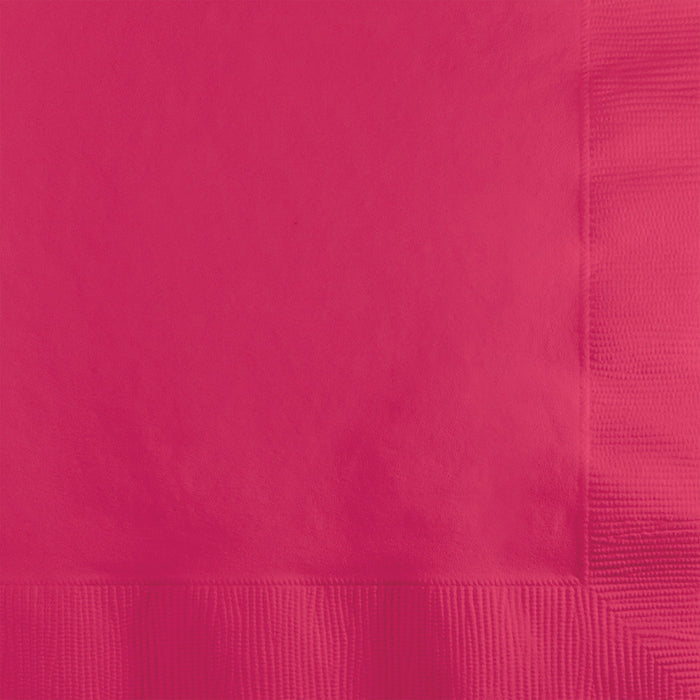 Hot Magenta Beverage Napkin, 3 Ply, 50 ct by Creative Converting