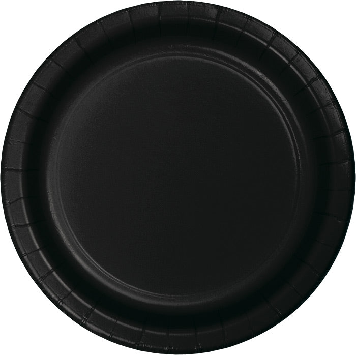 Black Banquet Plates, 24 ct by Creative Converting