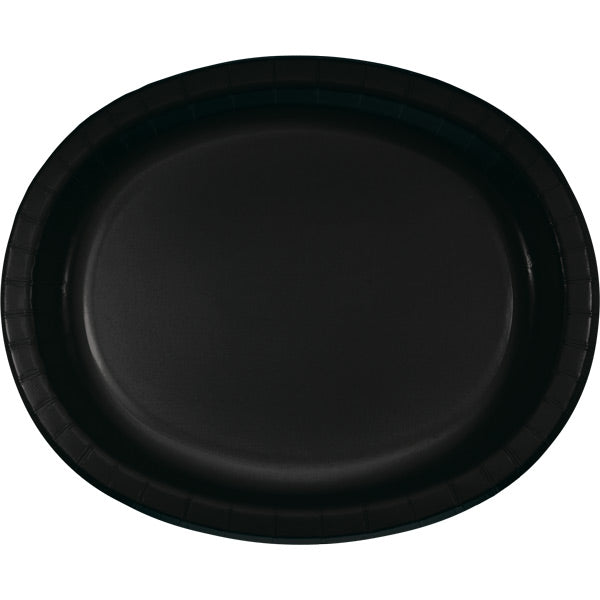 "Black Velvet Oval Platter 10"" X 12"", 8 ct by Creative Converting"