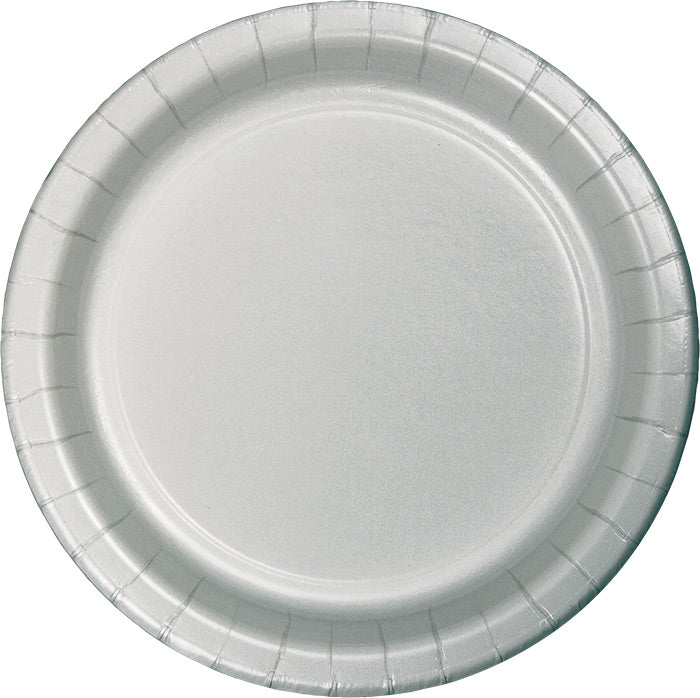 Shimmering Silver Banquet Plates, 24 ct by Creative Converting