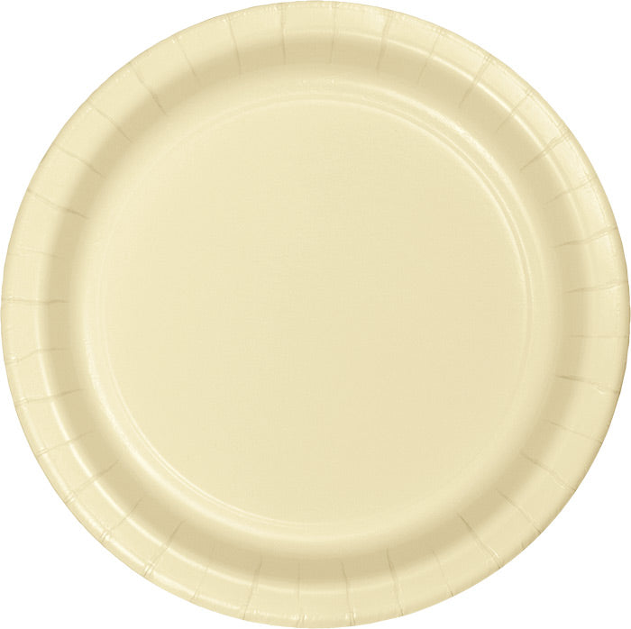 Ivory Banquet Plates, 24 ct by Creative Converting