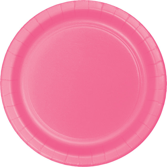 Candy Pink Banquet Plates, 24 ct by Creative Converting