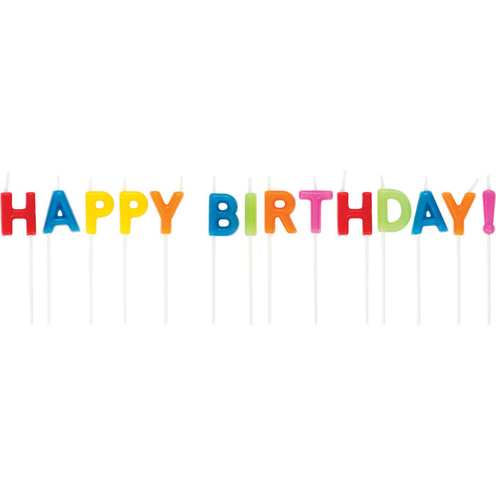 Happy Birthday Pick Candles by Creative Converting
