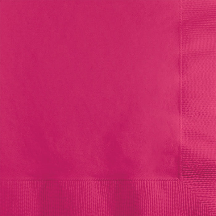 Hot Magenta Beverage Napkin 2Ply, 50 ct by Creative Converting